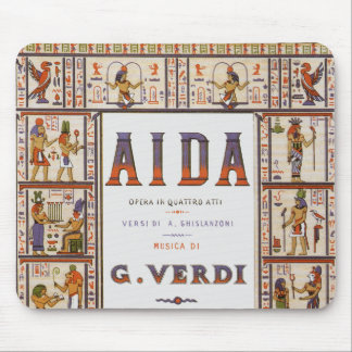 Vintage Opera Music, Egyptian Aida by Verdi Mouse Pad