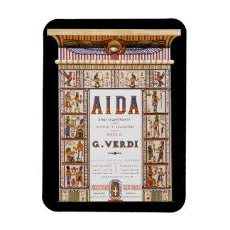 Vintage Opera Music, Egyptian Aida by Verdi Rectangle Magnet