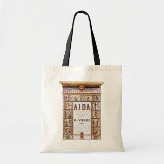 Vintage Opera Music, Egyptian Aida by Verdi Tote Bag