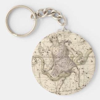 Vintage Ophiuchus Constellation Zodiac Basic Round Button Keychain