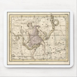 Vintage Ophiuchus Constellation Zodiac Mouse Pad