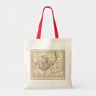 Vintage Ophiuchus Constellation Zodiac Tote Bag