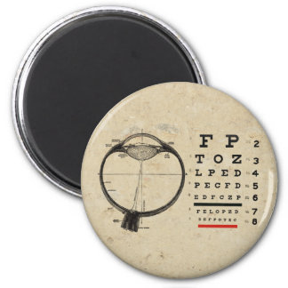 Vintage Ophthalmologist 2 Inch Round Magnet