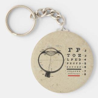 Vintage Ophthalmologist Basic Round Button Keychain