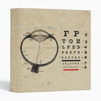 Vintage Ophthalmologist 3 Ring Binders