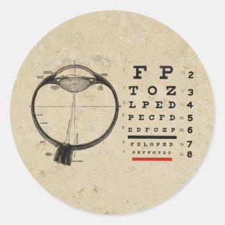 Vintage Ophthalmologist Classic Round Sticker