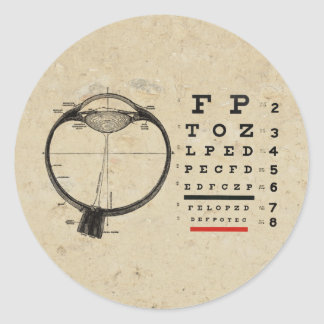 Vintage Ophthalmologist Classic Round Sticker