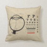 Vintage Ophthalmologist Throw Pillow