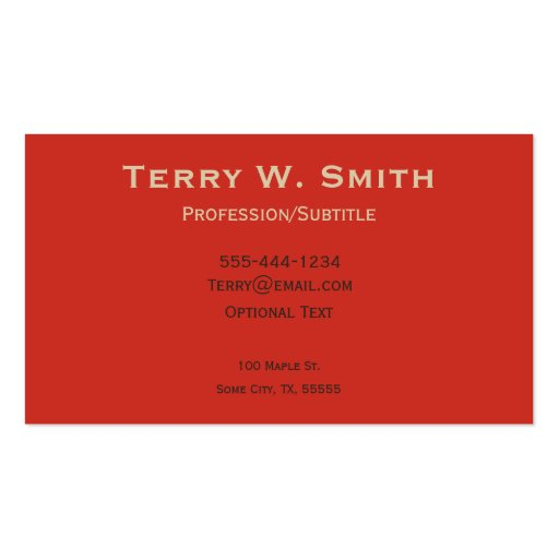 Vintage Ophthamologist Business Cards (back side)