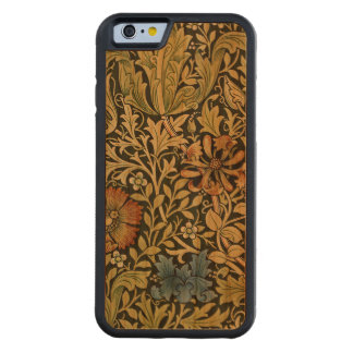 Vintage Orange and Blue Poppy Pattern Carved® Cherry iPhone 6 Bumper Case