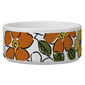 Vintage Orange and Yellow Floral Wedding Bowl