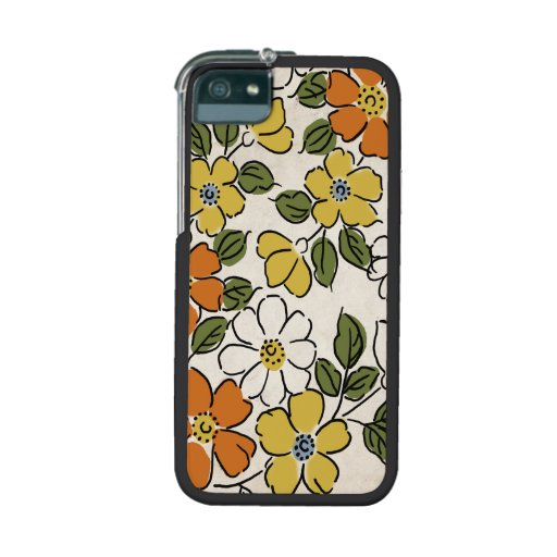 Vintage Orange and Yellow Floral Wedding Case For iPhone 5