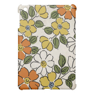 Vintage Orange and Yellow Floral Wedding iPad Mini Cover
