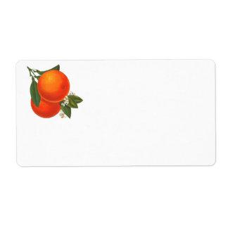 Vintage Orange Art Label