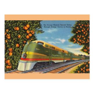 Vintage Orange Blossom Special Train FL Postcard