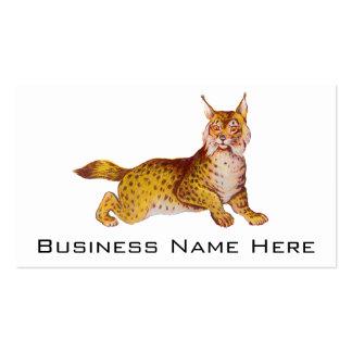 Vintage Orange Bobcat Illustration Business Card