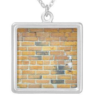 Vintage Orange Brick Wall Necklace
