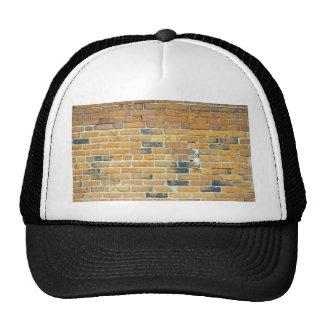 Vintage Orange Brick Wall Texture Mesh Hat
