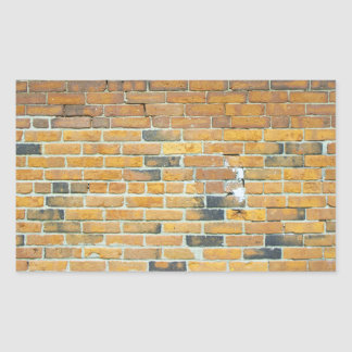 Vintage Orange Brick Wall Texture Rectangular Sticker