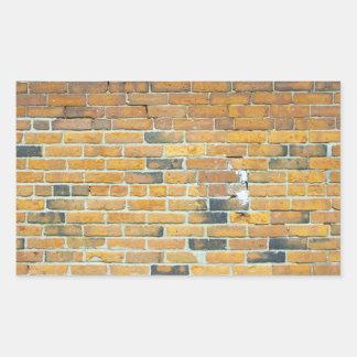 Vintage Orange Brick Wall Texture Rectangular Sticker