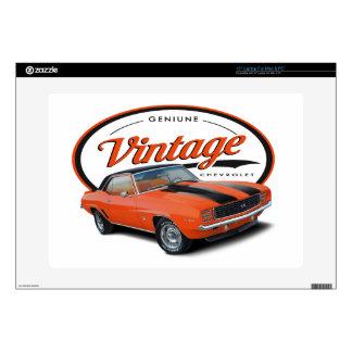 Vintage Orange Camaro Decal For Laptop