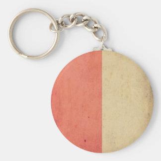 Vintage Orange Cream Bicolor Grunge Pattern Key Chains