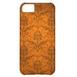 Vintage Orange Damask Wallpaper iPhone 5C Cases