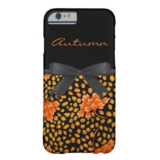 Vintage Orange Floral pattern iPhone 6 Case