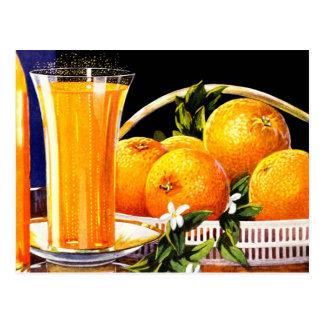 Vintage Orange Juice Advertisement Postcard