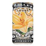 Vintage Orange Lilly Stamp Art iPhone 6 Case
