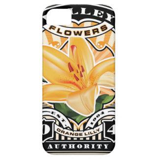 Vintage Orange Lilly Stamp Art iPhone SE/5/5s Case