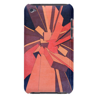 Vintage Orange Rectangles Barely There iPod Case