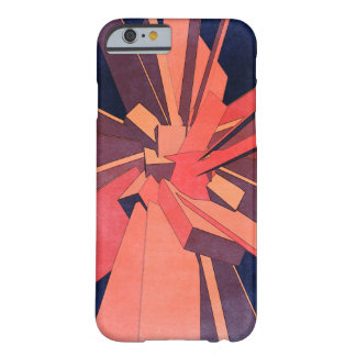 Vintage Orange Rectangles Barely There iPhone 6 Case