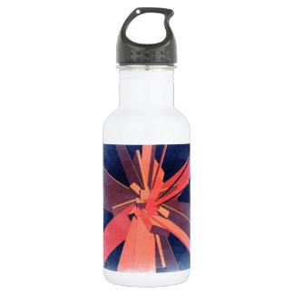 Vintage Orange Rectangles Stainless Steel Water Bottle