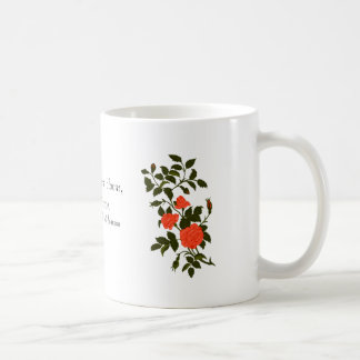 Vintage Orange Roses Image Coffee Mug