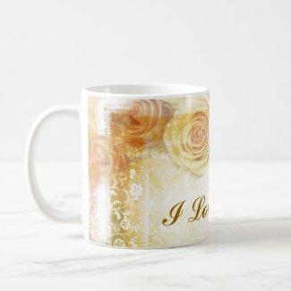 Vintage Orange Roses Mug mug