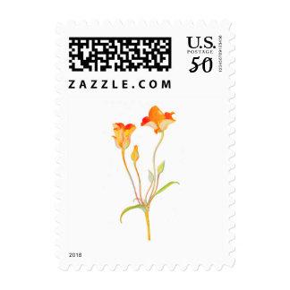 Vintage Orange Tulip Flower Postage