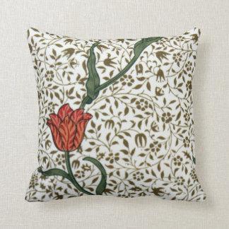 Vintage Orange Tulip Throw Pillows