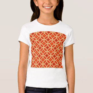 Vintage orange yellow quatrefoil trellis pattern T-Shirt