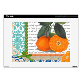 Vintage Oranges Collage Laptop Skins