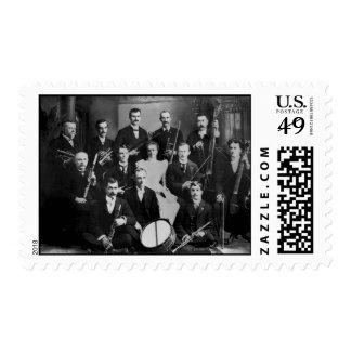 Vintage Orchestra Musicians Marine City Michigan Postage Stamp