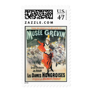 Vintage Orchestra Performance Ad Postage Stamp