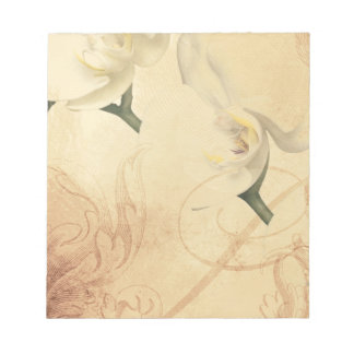 Vintage Orchid Background Notepad