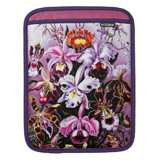 Vintage Orchid Floral art Sleeve For iPads
