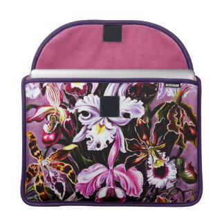 Vintage Orchid Floral art Sleeves For MacBooks