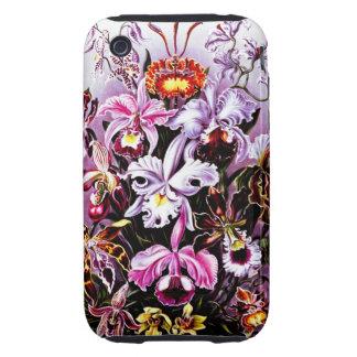 Vintage Orchid Floral art Tough iPhone 3 Covers