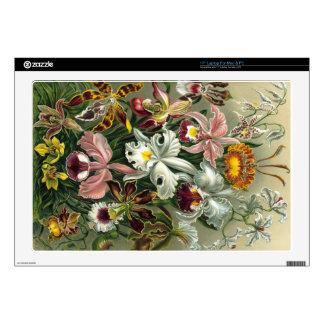 """Vintage Orchids 17"""" Laptop Decals"""