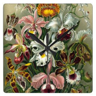 Vintage Orchids Clock