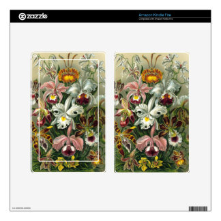Vintage Orchids Decals For Kindle Fire