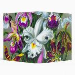 Vintage Orchids, Ernst Haeckel Vinyl Binder